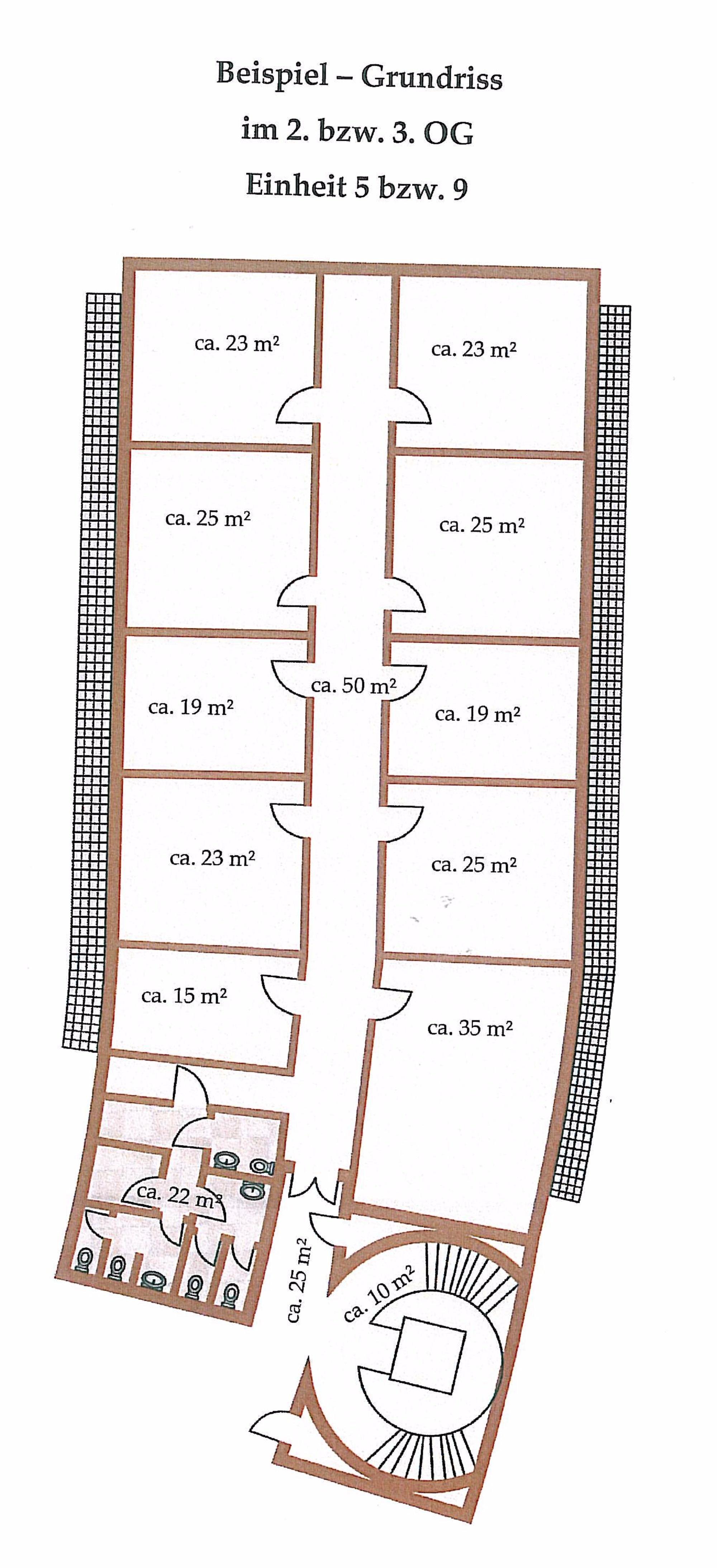 Grundrissbeispiel Etage